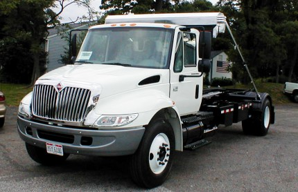 White Truck Front View